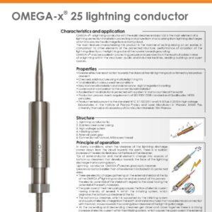 صاعقه گیر خازنی صاعقه گیر الکترونیکی اکتیو برقگیر الکترونیکی امگا مدل OMEGA